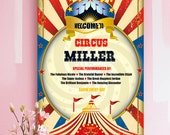 Personalised and customized Family Circus Print. Large poster A2