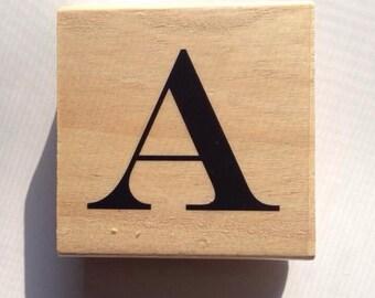 CIJ SALE Monogram Rubber Stamp // Letter A