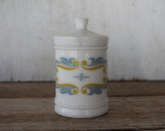 Milk Glass Apothecary Jar Rediplete Sharp and Dohme, Merck and Co.