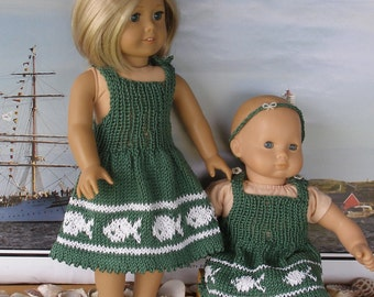 Pretty Sisters doll knitting pattern