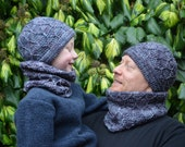 Crochet pattern : viking hat and cowl in different sizes (double pattern)