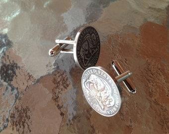 Buffalo Nickel Cufflinks by Custom Coin Rings