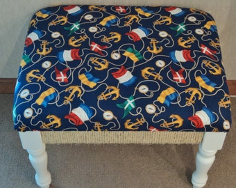 SALE!    Nautical themed Bench    Perfect for that lake front home and  cottage decor.