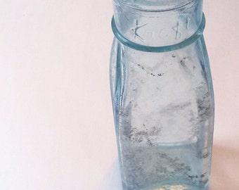 30s/40s Vintage Kraft, clear blue/green glass