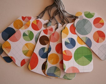 Pie Chart Gift Tags (10)