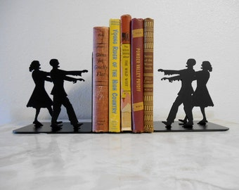 Zombie / Metal Bookends / Zombie decor / metal art / books / organization /  zombie apocalypse