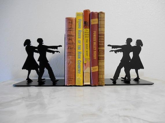 Zombie / Metal Art Bookends / Zombie decor / metal art / books / organization /  zombie apocalypse
