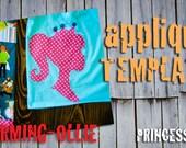 Charming-Ollie PRINCESS applique template pattern PDF Fairy Tale Crown