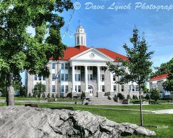 James Madison University - JMU - Wilson Hall - Harrisonburg VA - HDR - Photography by Dave Lynch - Free Shipping on any additional purchase