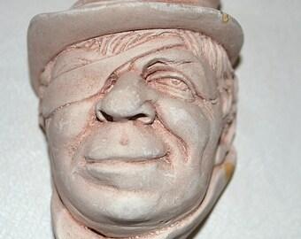 Antique Vintage Chaulkware English Sailor Face