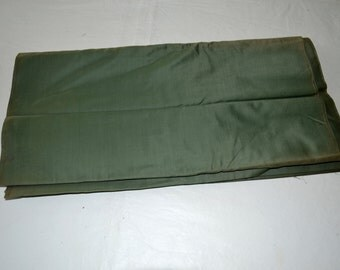 Antique 1800s Green cotton Fabric Yardage