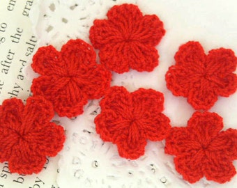 90pcs 18mm  handmade crochet flower  for hair clip, wedding decorating