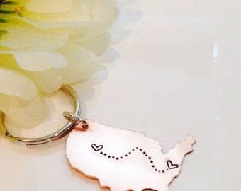 State keychain state to state keychain going away gift military wife keychain