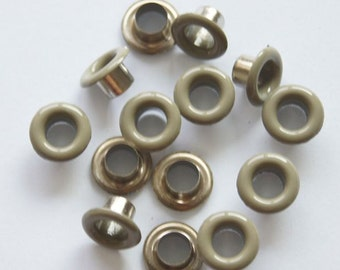 100 sets 5mm (inside)  metal eyelets grommet purse making supplies