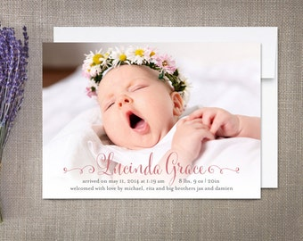 Girl Birth Announcement Lucinda