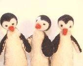 Felt Penguin Finger Puppets