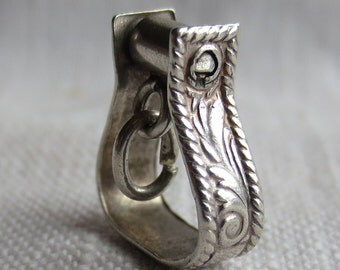 WESTERN STIRRUP RODEO Sterling Silver Charm or Pendant .