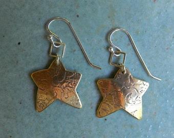 Bronze textured stars