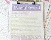 ORGANIZE - The Busy Mama Kit - BRIGHTS - 19 documents - Instant Download