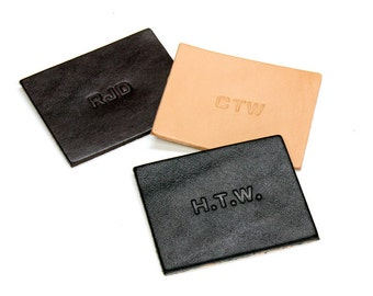 Personalized Hot Stamped Embossed Initials, Engraved Initials on Your Tagsmith Leather Item