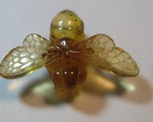 Reserved for Carolyn- 8-8/ carved Amber  Bee bead  ....... Real ... Natural Amber ...         22 x 33 x 11 mm .........         a4688