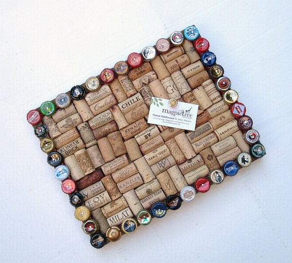 Wine cork & beer cap message board - for the wine geek and beer lover in your life
