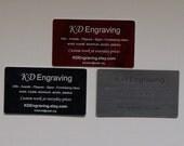 Custom Engraved Business Cards, set of 10