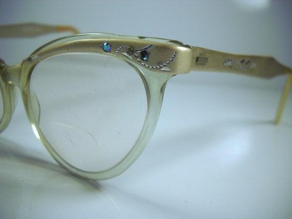 Vintage Styl-Rite Cat Eye Glasses 1950s Aluminum by ...