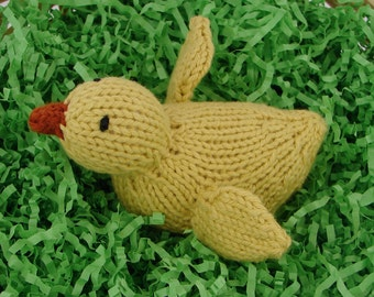 Hand Knit Chick- Yellow