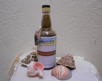 Hickory Smoked Whiskey Sea Salt- Wonderful for your Recipes -Huge 750 ML Bottle To Share Or Use