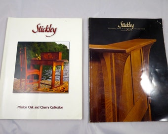 Vintage Stickley Furniture Catalog Books Mission Style Furniture Factory Products Stickley Reproductions 1980's Mission Oak Cherry Furniture