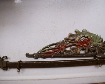 Vintage Swinging Extendable Curtain Rod-price reduced