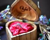 Custom Ring/Proposal Box *NEW!!* Heart shaped!!
