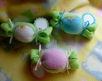 My Little Sweet Pea..Baby Washcloth Pea Pod..Boy, Girl, Neutral..My Little Pea Pod..Baby Washcloths..Pea Pod Baby Shower Favors :)