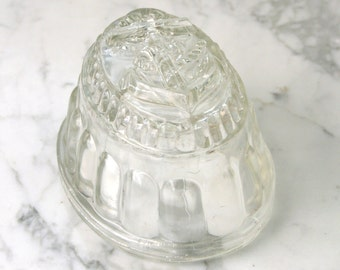 SALE PRICE Antique Glass Nautical Anchor Jelly Mould