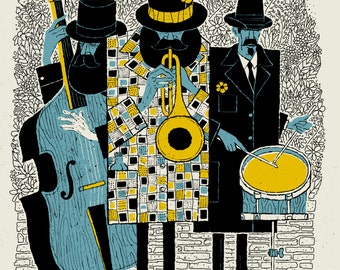 Jazz Men 18 x 24 silkscreen