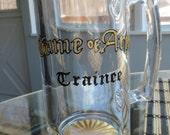 SALE! Huge Beer Mug Game of Arms Trainee Beer Glass Hand Painted