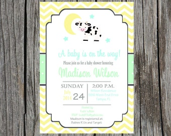 Hey diddle diddle baby shower, nursery rhyme baby shower, gender neutral baby shower, DIY and printable