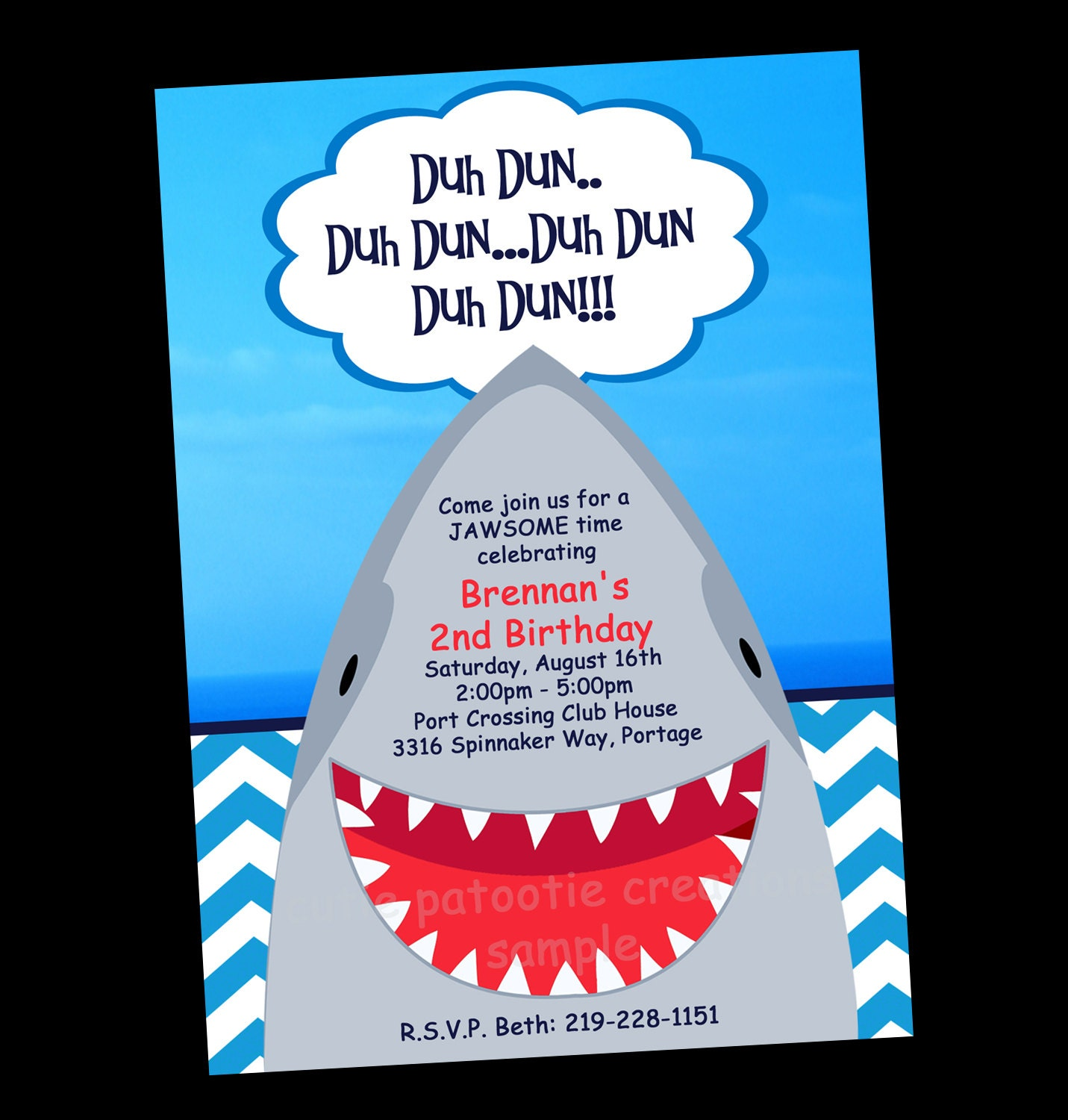 Shark Party Invitations for your inspiration to make invitation template look beautiful