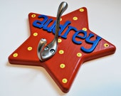 Personalized star hook Star wall hook Star coat hook Personalized coat hook