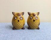 Owl Googly Eyes - Salt and Pepper Shakers Japan