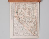 1930s Antique State Maps of Nevada and Nebraska