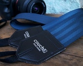 Navy Blue Seatbelt Camera Strap - Upcycled vegan guitar straps - Lots of colors to choose from