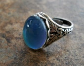 NEW DESIGN Victorian Style Mood Ring-Antiqued Silver