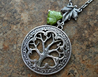 Tree of Life Necklace in Silver, Tree Pendant  EXCLUSIVE DESIGN