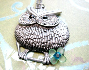 Owl Necklace, Owl Pendant Jewelry, Bird Neklace,Silver Owl Necklace, Owl Pendant Necklace, Owl Charm Necklace, Animal Necklace, Owl Gifts
