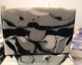 Tea Tree activated charcoal facial bar approximately 4.5 oz each, with bentonite clay & zinc oxide