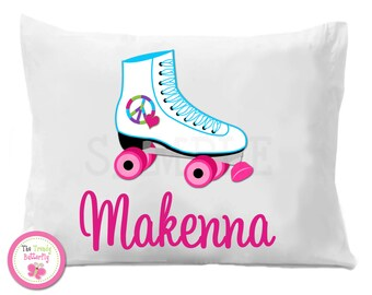Personalized Peace Heart Rollerskating Pillow Case