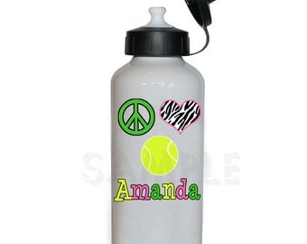 Tennis Water Bottle Tennis Personalized Water Bottle
