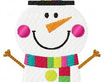 Embroidery Design, Cheery Snowman Winter Christmas  // Joyful Stitches